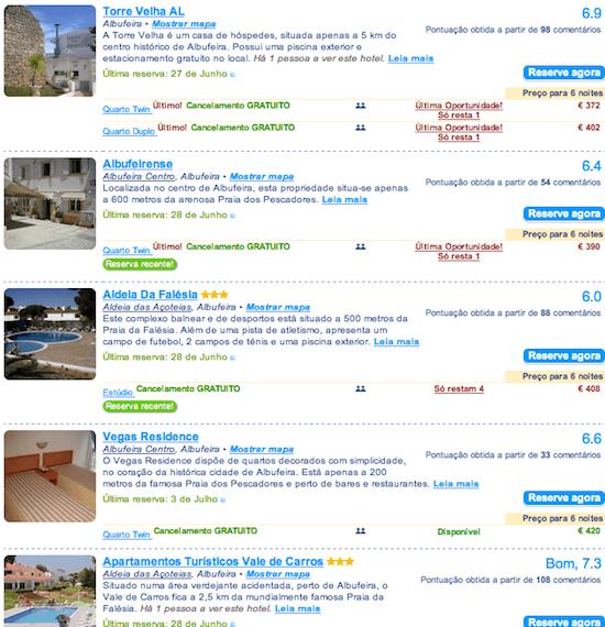 hoteis baratos Albufeira