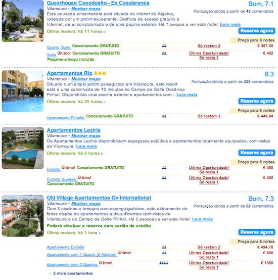 hoteis baratos Vila Moura