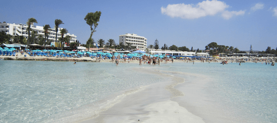 praias chipre