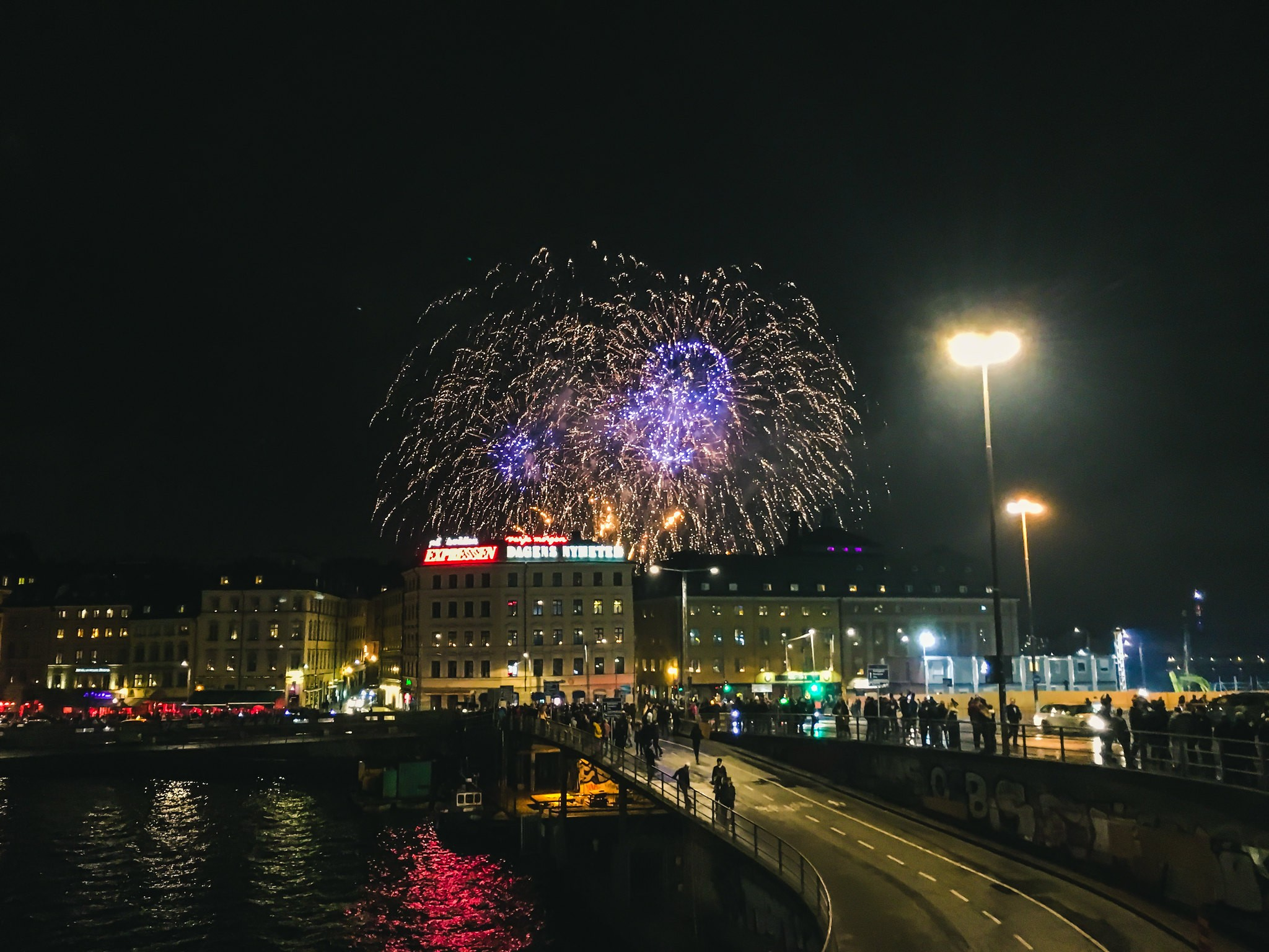 Estocolmo, Suécia Passagem de Ano